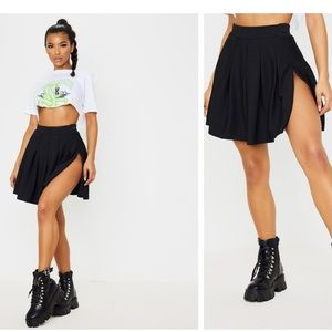 Pretty Young Thing Tennis Skirt with Slit